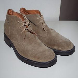 J. Crew Tan Suede Lace Up Boots Italy 9